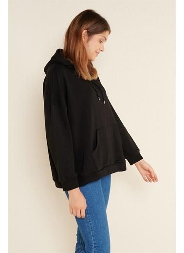 Z Giyim Oversize Kapşonlu Sweat Siyah